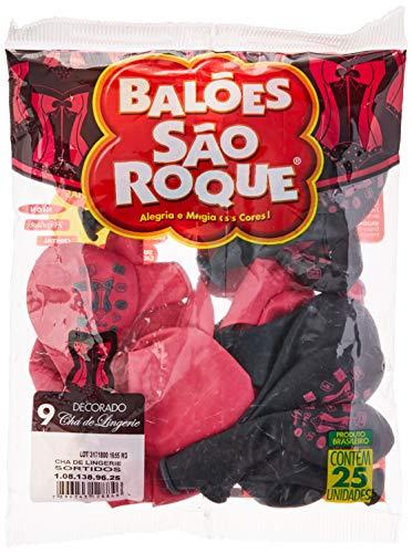 Balão Decorado N.090 Cha Langerie - Pacote com 25 Unidade(s), São Roque, 1081389625, Multicor