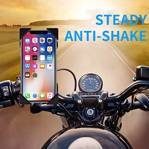 Meiyiu Soporte Universal para Montaje en teléfono de Bicicleta de Motocicleta con Cargador USB Soporte para teléfono Celular para Motocicleta