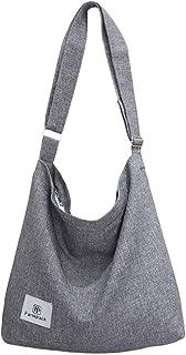 Fanspack Umhängetasche Damen, Fanspack Handtaschen Hobo Bag Canvas Damentaschen Groß Kapazität Schultertasche