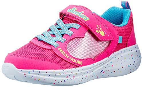 Skechers GO Run Fast Sneaker, Rosa glitzernde Netzbesatz, 34 EU