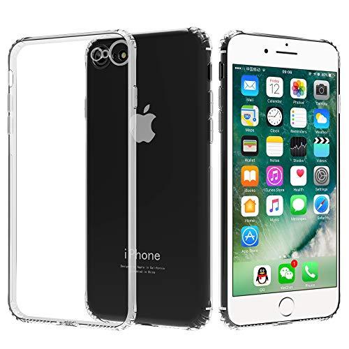 Migeec Hülle für iPhone SE 2020 iPhone 7 iPhone 8 Transparent [Stoßfest] Weiche Silikon [Kratzfest] Flex TPU Bumper handyhülle Durchsichtige Schutzhülle