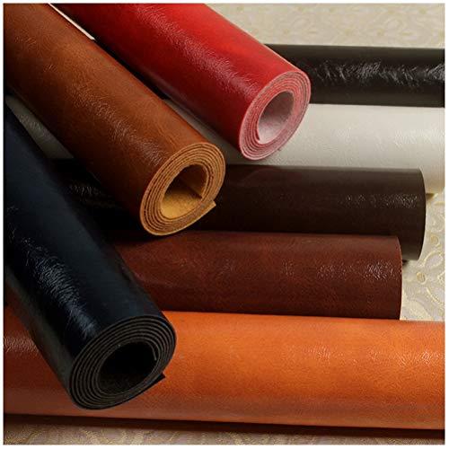 MAGFYLY Kunstleder unstleder Stoff Kunstleder Leder Reparatur Patch Couch Patch Emboss Ölwachs Leder für Sofas, Autositze, Handtaschen, Meterware (Color : Black)