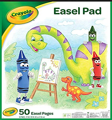 """Crayola Easel Pad, 17"""" X 20"""", Easel Supplies, 50 Sheets , White"""