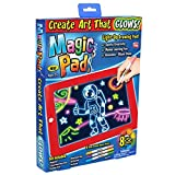 Magic Pad, la Tableta con rotuladores de neón y 8 Efectos de luz Brillante para Dar Vida a Tus Dibujos.