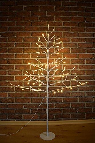 Candelabro Navidad Árbol de luz blanco LED de Adviento candelabro Interior Árbol de luz, 120 cm - 96 LEDs