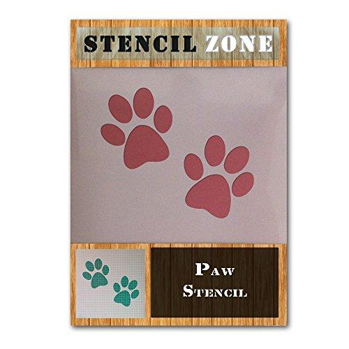 La pata del perro casero animal del gato impresión Mylar aerógrafo Pintura Crafts Pared plantilla de tres (A6 Tamaño de la plantilla - XXSmall)