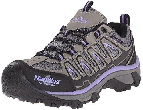 Nautilus Women's 2258 Oxford Steel Toe Waterproof EH Boot, Grey - 10 M