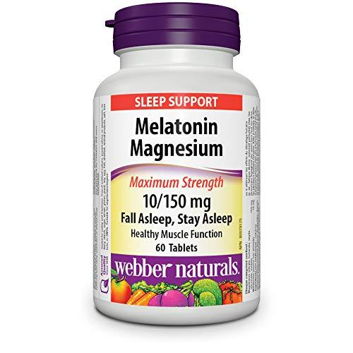 Webber Naturals Melatonin Magnesium 10/150 mg · Maximum Strength, 60 Tablets