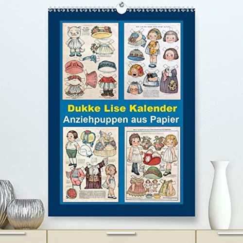 Dukke Lise Kalender - Anziehpuppen aus Papier (Premium, hochwertiger DIN A2 Wandkalender 2021, Kunstdruck in Hochglanz): Kalender mit 12 alten Dukke ... (Monatskalender, 14 Seiten ) (CALVENDO Kunst)