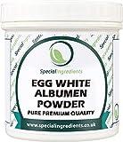 Albume d'uovo in polvere - naturale da galline allevate a terra 500 g (Etichette e istruzioni in italiano)