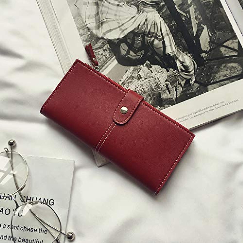 WANGZHAO Purse Female Zipper Long, Simple Retro Wallet