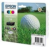 Epson Original 34 Tinte Golfball (WF-3720DWF WF-3725DWF) Multipack 4-farbig