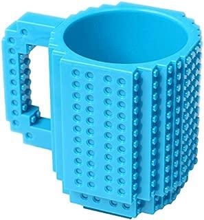 OliaDesign Blue Build-On Brick Mug - BPA-free 12oz