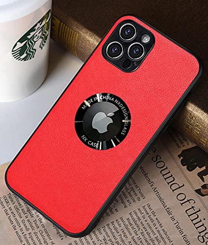 Adecuado para iPhone 12 Pro Max Funda de silicona para teléfono-rojo_iPhone12 (6.1)