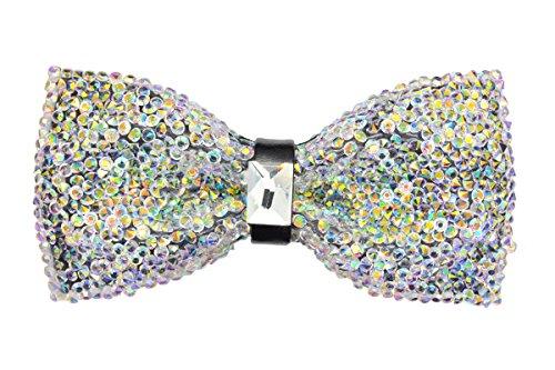 Crystal Glitter Bow tie Luxurious Wedding Party Rhinestone Adjustable Bowtie (AB)