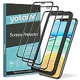 yotame 3 Stück Full Screen Panzerglas für iPhone 11 / XR, iPhone XR Schutzfolie [Mit Installationshilfe] 9H Super-Härte Blasenfrei und Kratzfest HD Klar Displayaschutz für iPhone 11 / XR - 6.1'