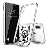 LuxuryHunters West Highland White Terrier Westie Dog Pup Puppy Hard Plastic Case/Cover for Apple iPhone X on Transparent