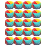 20 Piezas Anillo de Parada de caña de Pescar 3 Colores Poste Antideslizante círculo Goma Silicona Aparejos de Pesca M Equipo de Pesca Informal