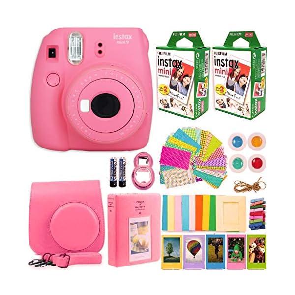 FujiFilm Instax Mini 9 Instant Camera + Fujifilm Instax Mini Film (40 Sheets) Bundle...