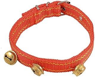 eDealMax de Nylon Para Perros mascotas 3 campanas DE 4 agujeros diseño del Collar Correa Para