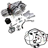 TDPRO 4-Stroke 125cc Semi-Auto Single-Cylinder Air-Cooled Electric-Start Motor Engine & Wiring Harness Kit for ATV Quad Four Wheelers