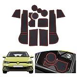 SHAOHAO Alfombrilla de Goma Golf 8 MK8, Alfombrilla Antideslizante para Consola Central, Alfombrilla portavasos,...