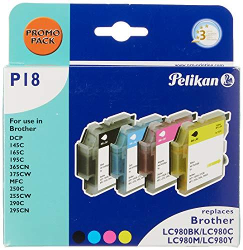 Pelikan 4107602, Cartuchos de Tinta para Impresoras (Negro, Cian, Magenta y Amarillo)