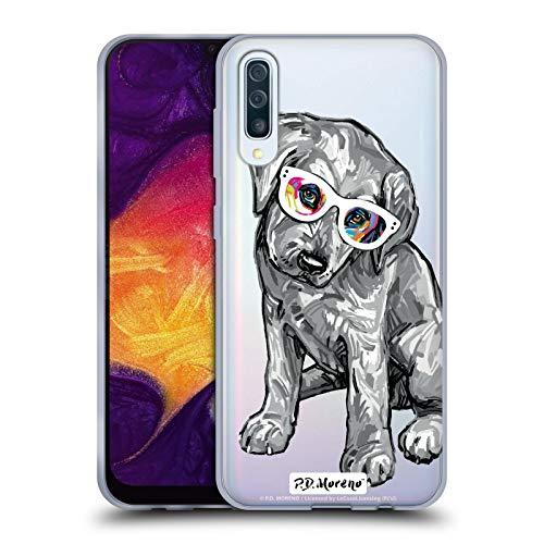 Head Case Designs Offizielle P.D. Moreno Labrador Retriever Schwarze Und Weisse H&e Soft Gel Huelle kompatibel mit Samsung Galaxy A50 (2019)
