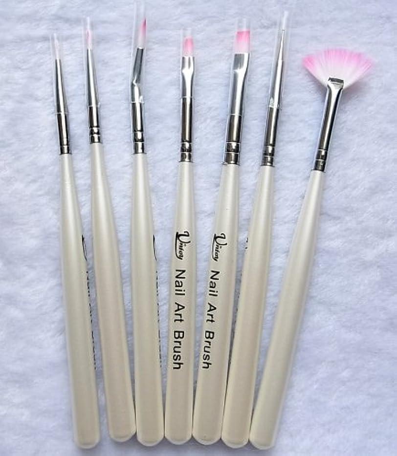 強盗店員ブレース7本セット お急ぎ便対象 ジェルネイル筆、ネイルアート筆 キャップつきドットペン入り ジェルネイル、ネイルアートに (7本セット)