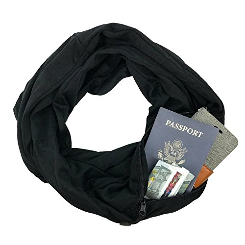 Sholdit Pocketed Scarf Bliss Black Womens Scarf