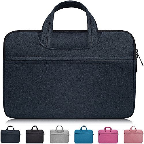 "14 Inch Laptop Sleeve with Handle for 15 Inch MacBook Pro Touch Bar A1990 A1707 2018 2017,ASUS HP 14"" Laptop,Acer Chromebook 14,HP Stream 14,14 Inch ThinkPad Chromebook,14-15 inch Laptop Bag,Navy Blue"