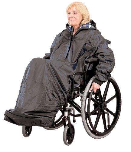 Patterson Medical - Impermeable con mangas para silla de ruedas