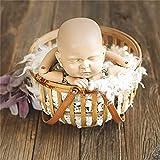 yaunli Baby Photography Props Photography Newborn Photography Photography Baby Props Baby Studio Retro Cesta Apoyos de Estudio para recién Nacidos. (Color : Marrón, Size : One Size)