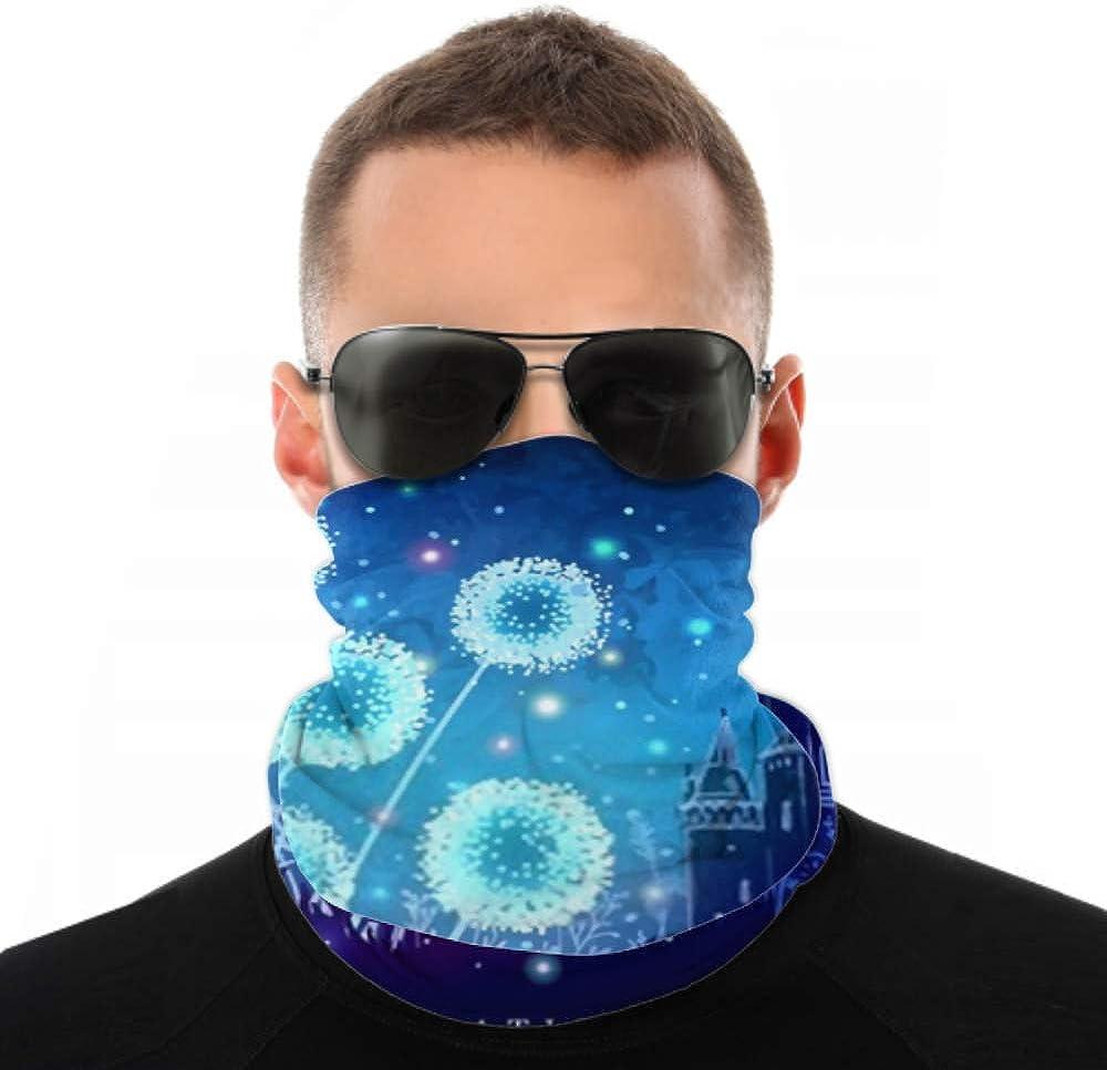 Headbands For Men Women Neck Gaiter, Face Mask, Headband, Scarf Amazing Dandelions Magical Lights Fireflies Night Turban Multi Scarf Double Sided Print Bandana Face Mask For Sport Outdoor
