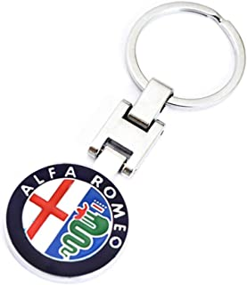 VILLSION 3D Car Logo Key Chain Double Sided Alloy Metal Keyring Auto Keychain Accessories with Gift Box