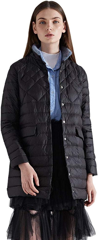 Women's Ultralight Packable Winter Puffer Down Jacket with Button Casual Warm Outwear