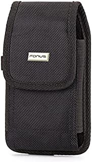 Black Rugged Case Holster Swivel Belt Clip Pouch Cover for Alcatel OneTouch Go Play - Alcatel OneTouch Pop Up - Blackberry Leap
