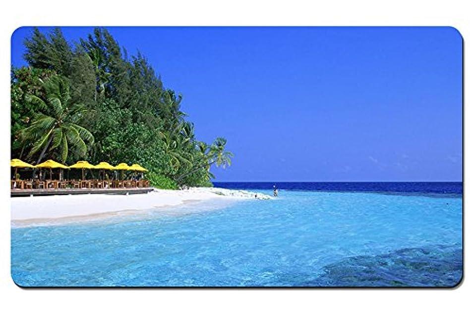枕同級生たまに青い水のビーチ パターンカスタムの マウスパッド 海 デスクマット 大 (60cmx35cm)