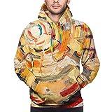 Moshow Sudadera con Capucha para Hombre Pintura al óleo Original sobre Lienzo.Resumen, Sudadera The Art XL