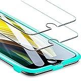 ESR Protector de Pantalla Cristal Templado Compatible iPhone SE 2020/8/7 [2 Unidades][Marco de Instalación Fácil][Cristal Templado Premium]