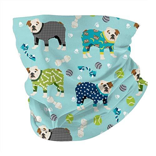 Niedlicher Schlafanzug mit englischem Bulldoggen-Motiv, ideal für Stirnband, Angeln, Unisex, waschbar, wiederverwendbar, UV-Schutz, weich, atmungsaktiv, Sonnenschutz.