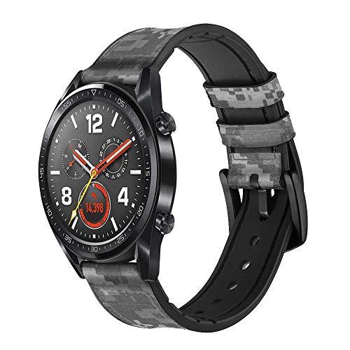 Innovedesire Army White Digital Camo Correa de Reloj Inteligente de Cuero para Wristwatch Smartwatch Smart Watch Tamaño (18mm)