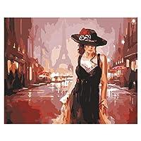 クロスステッチ、Daeum Paris Street DancerDIY絵画byNumbersモダンウォールアートピクチャーフォーキッズ