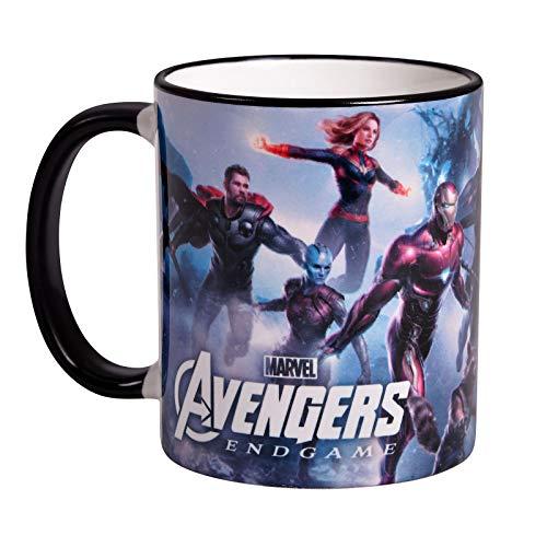 Elbenwald Marvel Tasse Avengers Endgame Heroes Collage Rundumdruck 320 ml Keramik