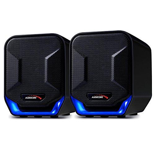 Audiocore AC865 B Stereo-Lautsprecher mit Beleuchtung 6W