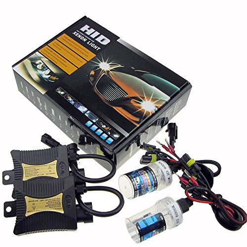 JINYJIA 12V 55W Xenon HID Conversion Kit Headlight for Car Vehicle Replacement Bulb H7//8000K
