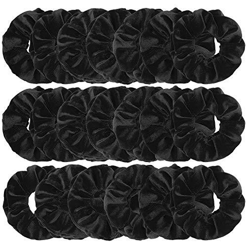 Wanap Scrunchies, 20PCS Velvet Scrunchies Hair Scrunchie voor vrouwen en meisjes, Koreaanse Velvet Scrunchy voor paardenstaart houder met een opbergtas... (zwart)