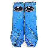 Professionals Choice Equine Sports Medicine Ventech Elite Rear Leg Boot, Pair (Medium, Turquoise)