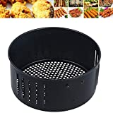 Round Air Fryer Basket 3.5L Replacement Universal Non Stick Fry Basket Universal Air Fryer Pan Kitchen Cooking Roasting Accessories (3.5L)