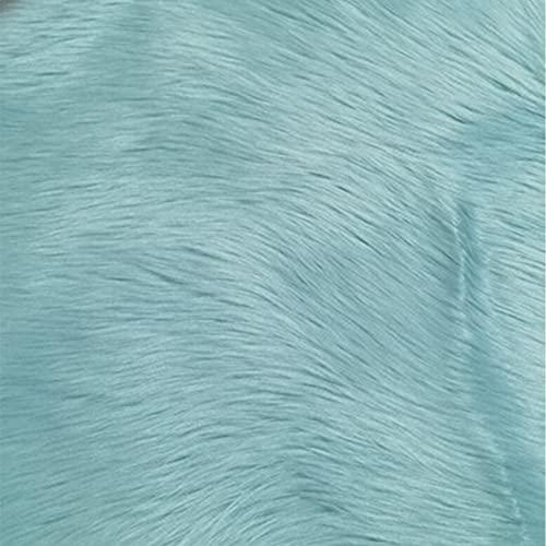 ZXD Área de Alfombra Suave Piel de Oveja Artificial Piel Cubierta de la Silla cojín del Asiento Piso del Dormitorio sofá Sala de Estar 23.6 * 47.2in (6 Colores),Azul,23.6 * 47.2in